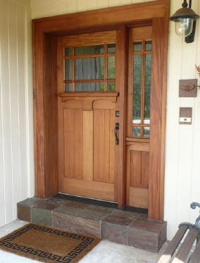 Craftsman wood doors craftsman front doors other for Single front entry doors