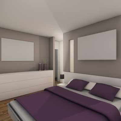 Modern Bedroom modern-rendering