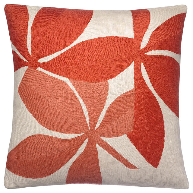 Fauna Pillow Cream/Coral/Oyster - pillows - chicago - by Belle and ...