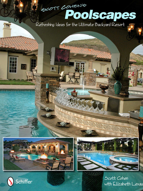Poolscapes - 'With over 400 stunning color photos, this book is an informative resource with hundreds of backyard design ideas to introduce you to many possibilities for backyard pools that turn your home into a vacation spot that is the envy of all your friends. Whether you are looking for an intimate hydrotherapy spa, a splash-happy place for family fun, an invigorating exercise pool or an exquisite setting for outdoor entertaining, you will discover it in these breathtaking, high-performance pools and spas. Each chapter highlights a project from Scott Cohen's portfolio, featuring yards of every size, that have been transformed into extraordinary poolscapes. Glistening infinity pools, Tuscan-style fountains, outdoor waterfalls, and romantic tropical coves are also included-they are all here. This instructive guide illustrates the tips and techniques that go into a perfect pool landscape…tips you or your designer can use in your own landscaping plans. In addition to swimming pool designs and hot tub ideas, this book covers fountains and other water features.'