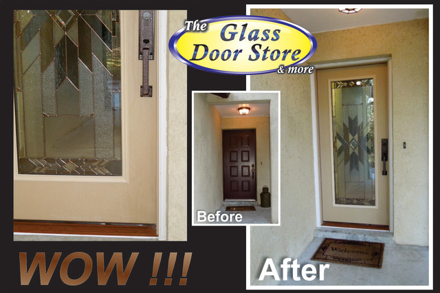 Front Door Remodel and Replacement - Eclectic - Entry - tampa - by The Glass Door Store