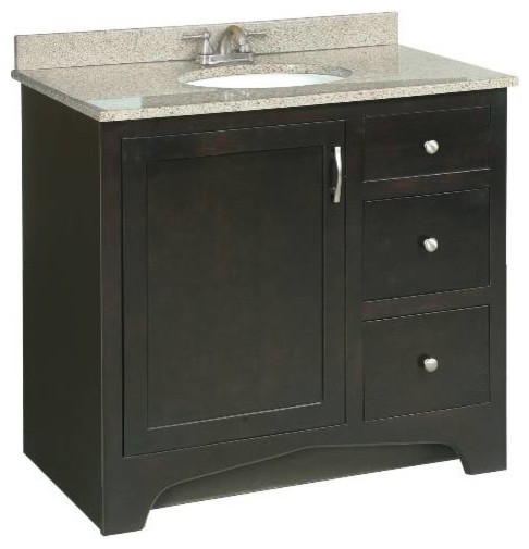 Premier 106724 Sonoma Rta Vanity 36 Inch Espresso Finish Modern Bathroom Vanities And Sink