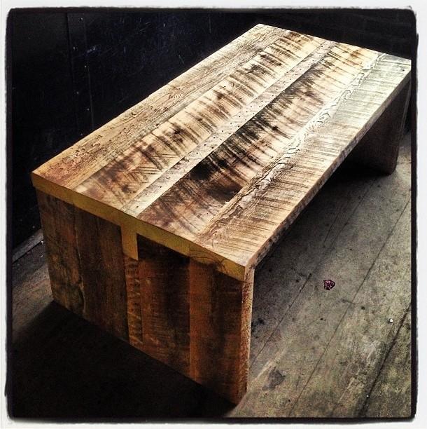 Kerf reclaimed barn board coffee table rustic for Barn board coffee table
