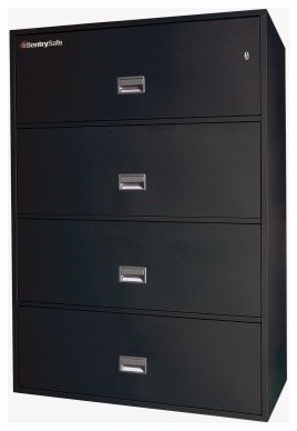 SentrySafe L4300 Insulated 4 Drawer Lateral Filing Cabinet - 43 Inch ...