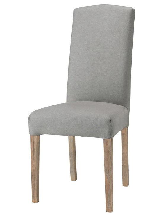 Alice Light Grey Linen Chair Slipcover -