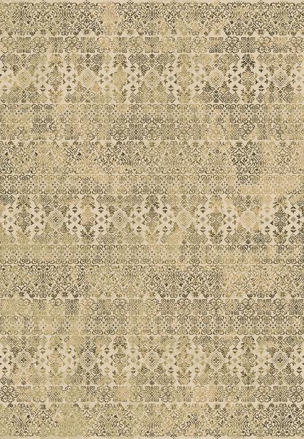 "Ancient Garden 57034-6727 7'10"" x 11'2"" Beige Rug contemporary-rugs"