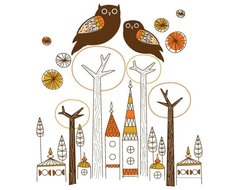 Night Owls Decal by Amy Ruppel modern-decals
