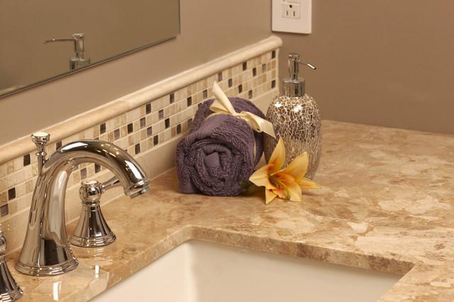 Vanity Side Splash : Traditional bathroom countertops