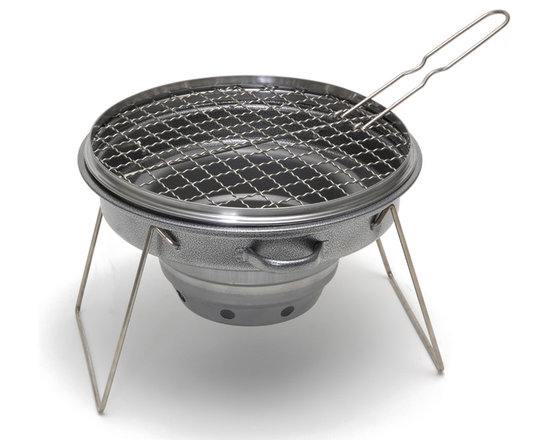 Camerons Products - Portable Non-Stick Outdoor Tailgator Grill - - Stainless steel grate, powder coated body and heat resistant carbon steel fire box.
