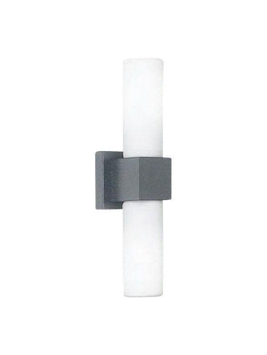 """Artemide - Artemide Dupla Double outdoor wall sconce - The Dupla Double outdoor wall sconce Rezek by fromArtemide has been designed by Peclar Nalbandian and Ron Rezek in 2009. This wall mounted luminaire is great for diffused fluorescent lighting, suitable for outdoor wet locations. The Dupla is composed of a body in die-cast aluminum with a semi matte-black or silver powder-coated finish. The Diffuser is constructed from etched white glass, fully gasketed, with hardware in stainless steel. 120V ballast integrated in compact fluorescent lampholder with mounting to standard electrical junction boxes. The Dupla Double outdoor wall sconce exhibits an elegant and classic design, along with quality craftsmanship, that is sure to beautifully brighten any contemoprary setting.  Product Description  The Dupla Double outdoor wall sconce fromRezek by Artemide has been designed by Peclar Nalbandian and Ron Rezek in 2009. This wall mounted luminaire is great for diffused fluorescent lighting, suitable for outdoor wet locations. The Dupla is composed of a body in die-cast aluminum with a semi matte-black or silver powder-coated finish. The Diffuser is constructed from etched white glass, fully gasketed, with hardware in stainless steel. 120V ballast integrated in compact fluorescent lampholder with mounting to standard electrical junction boxes. The Dupla Double outdoor wall sconce exhibits an elegant and classic design, along with quality craftsmanship, that is sure to beautifully brighten any contemoprary setting.  Details:      Manufacturer:    Artemide      Designer:    Peclar Nalbandian and Ron Rezek      Made in:    Italy      Dimensions:    Height: 15.5"""" (39 cm) Width: 4"""" (10 cm)      Light bulb:    2 X 13W fluorescent      Material:    Steel, Aluminum, Glass"""