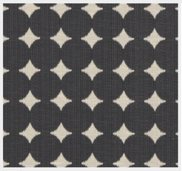 IKAT DOT  Fabric in Pewter fabric