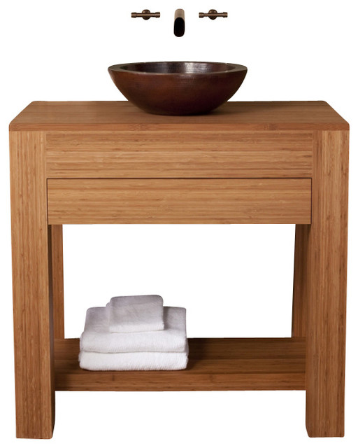 36 inch single sink bath vanity in bamboo rustic bathroom vanities and sink consoles by for 36 inch rustic bathroom vanity