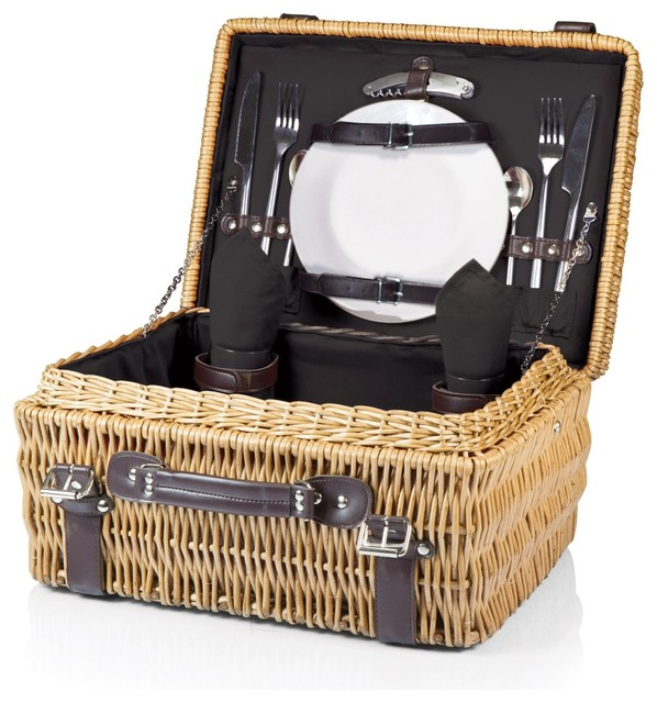 Champion- Picnic Basket for 2, Black modern-food-containers-and-storage