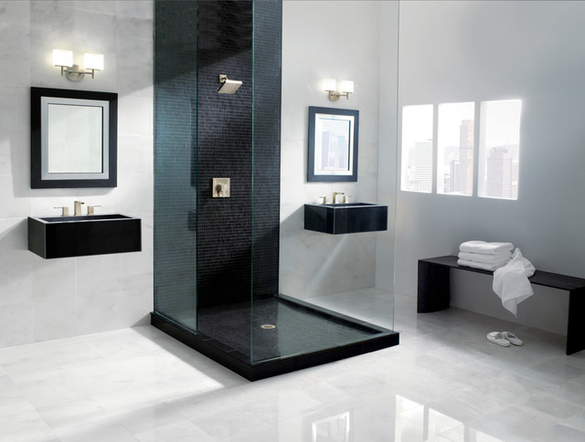 90 Degree in Brushed Nickel modern-bathroom-faucets-and-showerheads