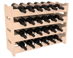 24 Bottle Mini Scalloped Wine Rack in Pine, (Unstained) contemporary-wine-racks