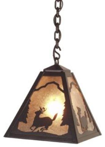 Pendant - TIMBER RIDGE - DEER rustic-pendant-lighting