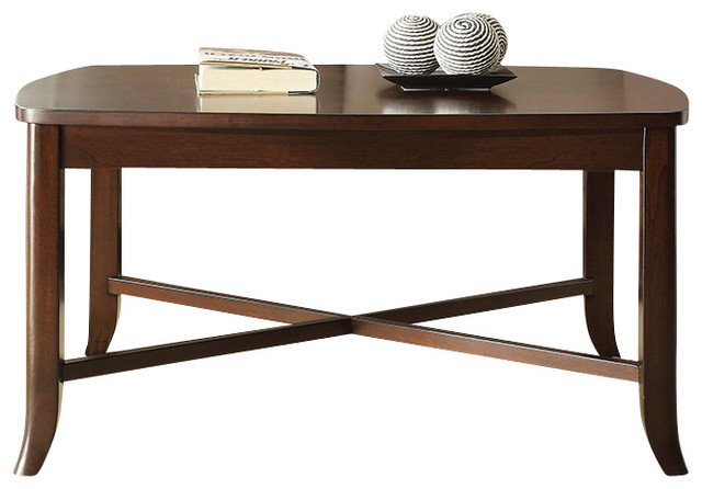 INSPIRED by Bassett Bella Coffee Table in Truffle Finish modern-coffee-tables