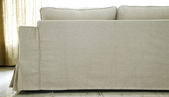 Ikea Manstad Loose Fit Linen Slipcovers Modern Sofas