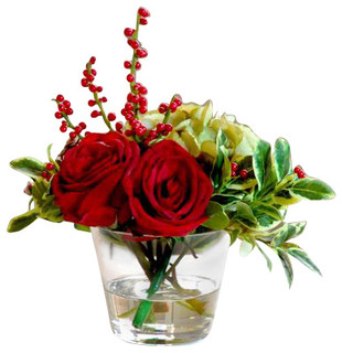 Small Mixed Red Flower Arrangement - Traditional - by Winward Designs