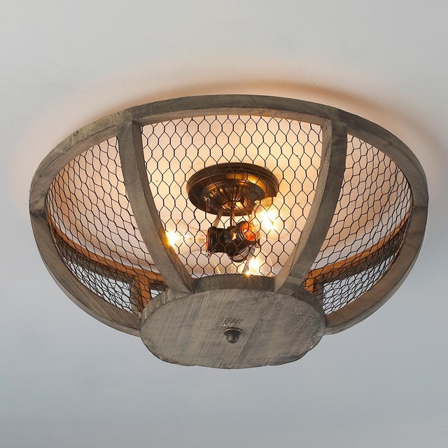Chicken Wire Basket Ceiling Light Flush Mount Ceiling Lighting By Shades