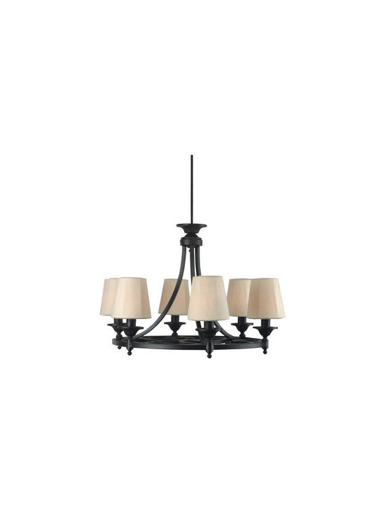 Royce Lighting - Royce Lighting Outdoor 6-Light Chandelier - Bring the stylish flair of a traditionally indoor fixture to the great outdoors with Royce Lighting's. A beautiful, unexpected accompaniment to gazebos, decks, patios, three-season porches, and other exterior settings, the handsome fixture's dark-wood finish and stately lines pair a sense of natural elegance with old-fashioned simplicity to stunning results.