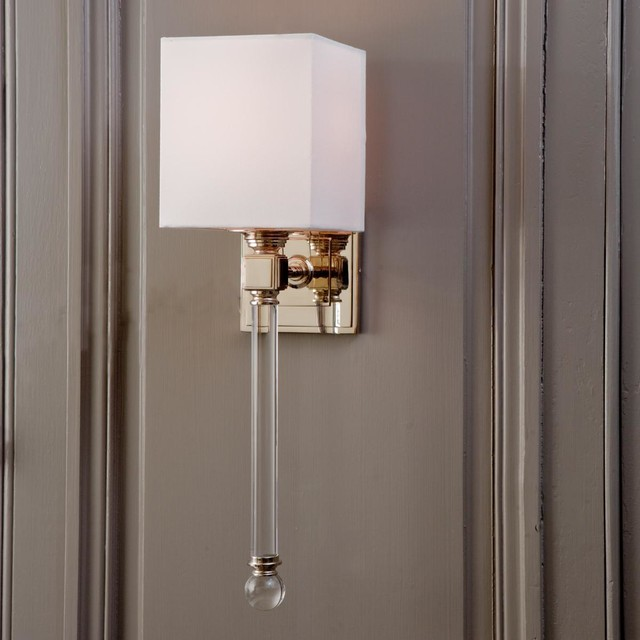 Chic Sophisticate Crystal Torch Wall Sconce - Wall Sconces - by Shades of Light