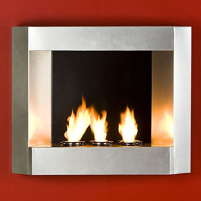 Upton Home Contemporary Wall Mount Gel Fuel Fireplace Contemporary Firepl