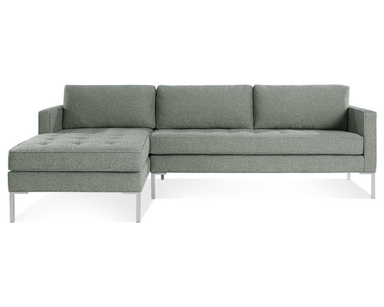 Blu Dot - Paramount Sofa with Left Arm Chaise, Ceramic - As comfortable as your favorite jeans. As versatile as a little black dress. This classic sofa and chaise combination can go anywhere in style but don't be surprised if it steals the limelight in its own quiet way. Available in ash, ceramic, lead and oatmeal.