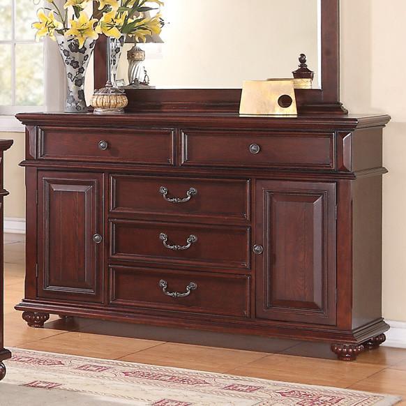 Kessner Dresser In Cherry Finish Modern Dressers By