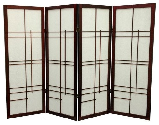 Oriental Furniture Low Eudes Shoji Screen Room Divider - 48 inch asian-screens-and-room-dividers