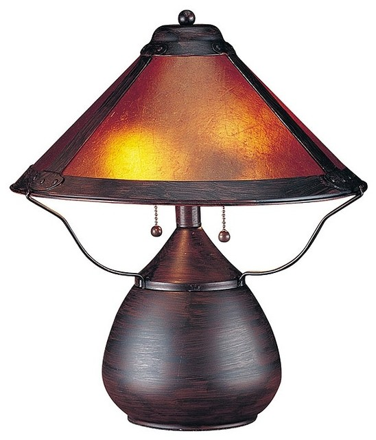 Arts and Crafts - Mission Mission-Style Mica Table Lamp traditional-table-lamps