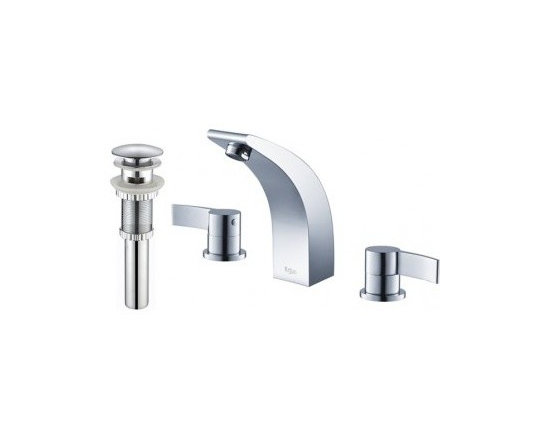 Kraus Illusio Double Handle Widespread Faucet And Pop Up Drain With Overflow Chr - At Kraus, we use various elements of design to impress and make a statement in order to turn your private space into a truly unique one
