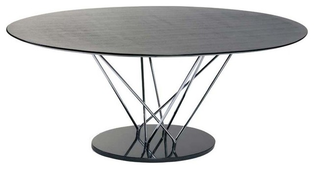 Eurostyle Stacy Pedestal Oval Dining Table W Black Marble Base Modern Di