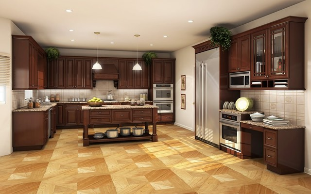 RTA Cabinets Waterford Estates (Merlot) Series - Kitchen Cabinetry - by Custom Service Hardware, Inc