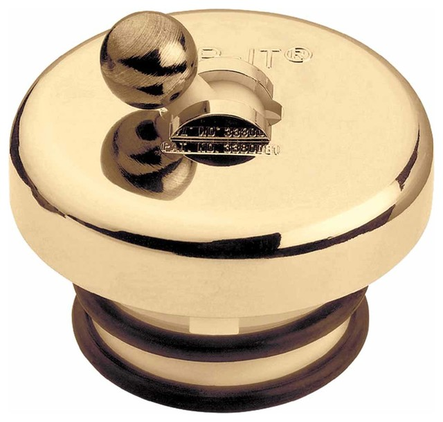 Bright Brass Ball Flip-Top Tub Stopper - Transitional - Bathroom Faucets And Showerheads - by ...