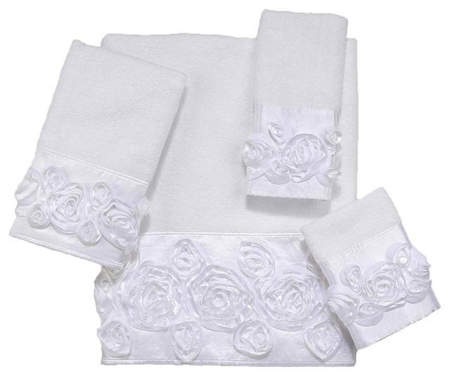 Rosie 4 Piece Cotton Towel Set by Avanti Linens contemporary-towels