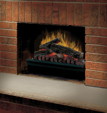 Dimplex 23-Inch Standard Electric Fireplace Log Set & Trim Kit - DFI23096A-DFI23 traditional-indoor-fireplaces