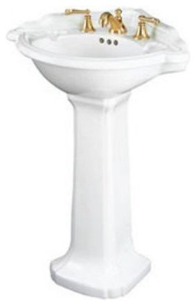 Corner Sink Pedestal : ... Corner Pedestal Bathroom Sink - Modern - Bathroom Sinks - by Hayneedle