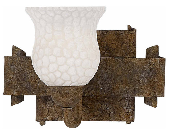 Triarch International - Triarch 25931 Hammered Bronze Wall Sconce - Triarch 25931 Hammered Bronze Wall Sconce