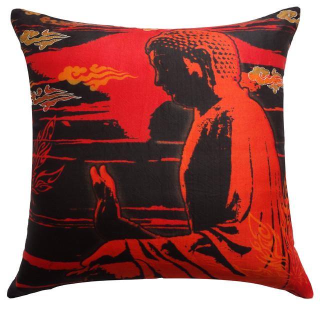 Peace Silk Pillow Cover eclectic-decorative-pillows