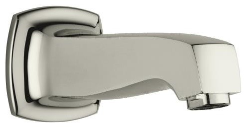 KOHLER K-16246-SN Margaux Wall-Mount Bath Spout in Polished Nickel traditional-bathroom-faucets