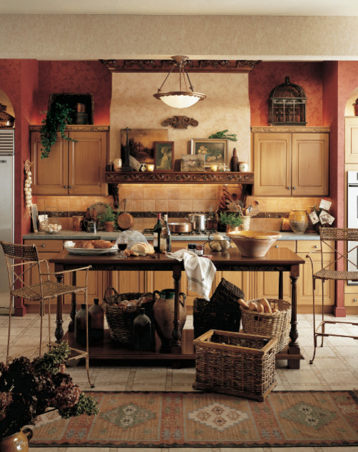 Tuscan - Traditional - Kitchen - houston - by Cabinets & Designs