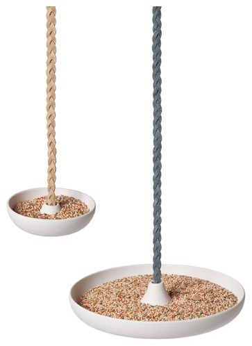 Disc Bird Feeder - Branch contemporary outdoor decor