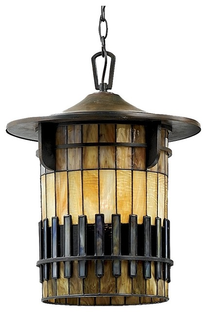 Arts and crafts mission autumn ridge 18 1 2 high for Modern craftsman lighting