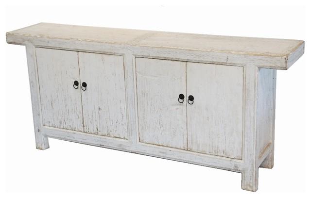Reclaimed Wood White Sideboard Buffet Media Cabinet ...