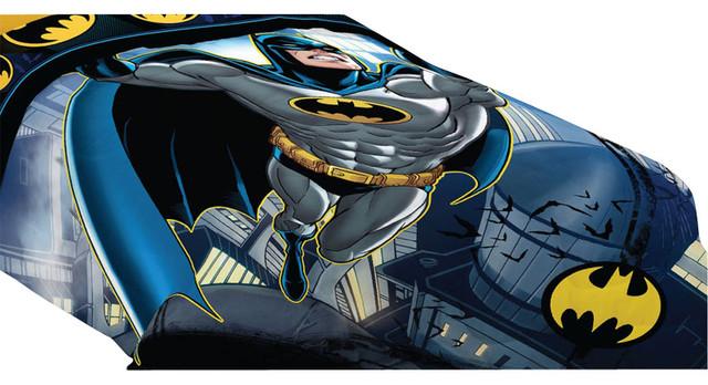 Batman twin full comforter rooftop superhero bedding contemporary kids