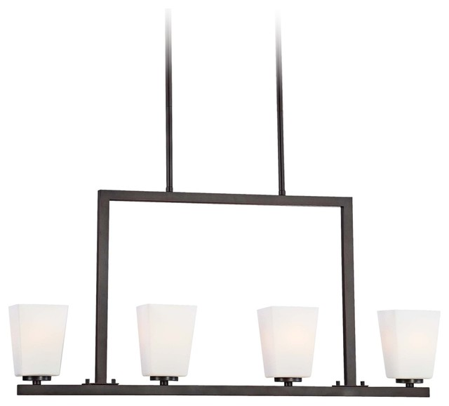 """City Square Collection 32"""" Wide Island Light Chandelier transitional-chandeliers"""