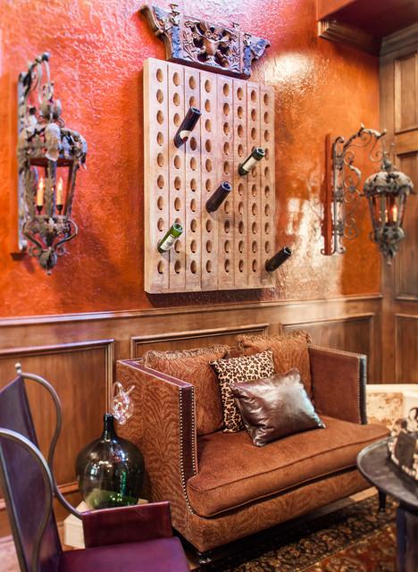 Eclectic Chic mediterranean-wine-cellar