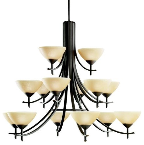 Olympia 15-Light Chandelier contemporary-chandeliers