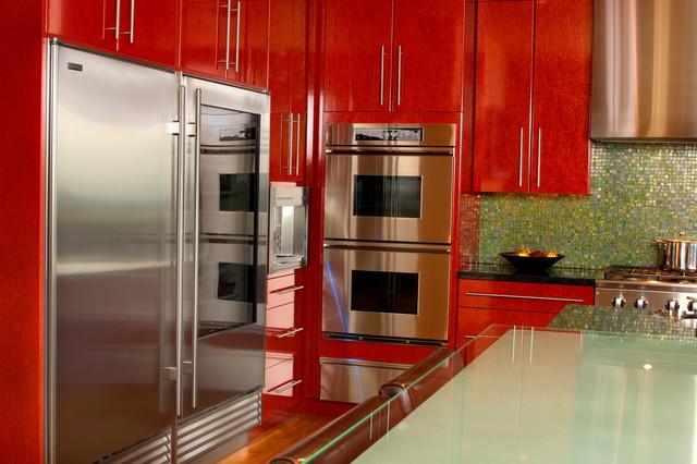 Red Kitchen contemporary-kitchen